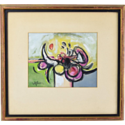 1960's Abstract Painting signed Ahmed Parvez Pakistani