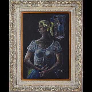 Pastel Abstracted Blonde Women Frederick Jones Chicago African American