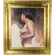 Early 20th Century Nude Study Oil Painting Cornelia Field Maury Southern Artist