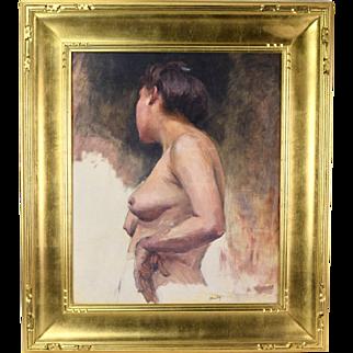 Early 20th Century Nude Study Oil Painting Cornelia Field Maury Southern Artist