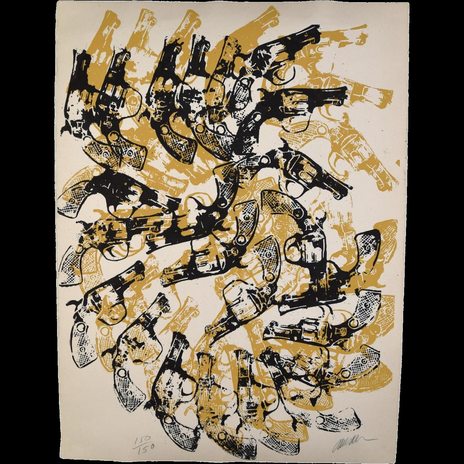 "1979 Arman ""Yang and Bang"" L/E Screenprint Signed Numbered in Pencil"
