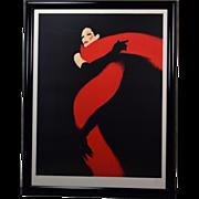 """René Gruau signed Limited Edition Lithograph """"Rouge et Noir"""""""