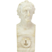19th Century Marble Bust of German Literary Figure Johann Wolfgang von Goethe