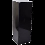 Vintage Modern Black Pedestal Sculpture Plant Stand