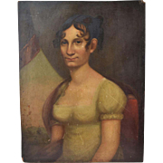 Early American Portrait of Mary Ann Foxall -McKenney Georgetown Washington D.C.