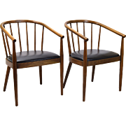 Pair Mid-Century Bentwood Armchairs  Lawrence Peabody for Richardson Nemschoff