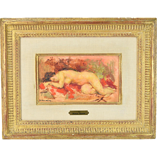 Maryse Ducaire-Roque French Impressionist Oil Painting Sleeping Nude