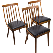 Set 3 Mid-Century Bentwood Side Chairs Lawrence Peabody Richardson Nemschoff