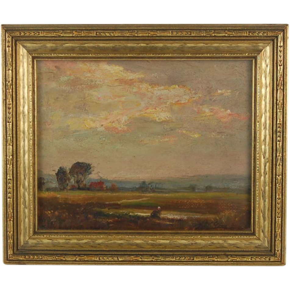 American Impressionist Landscape Oil Painting Joseph W