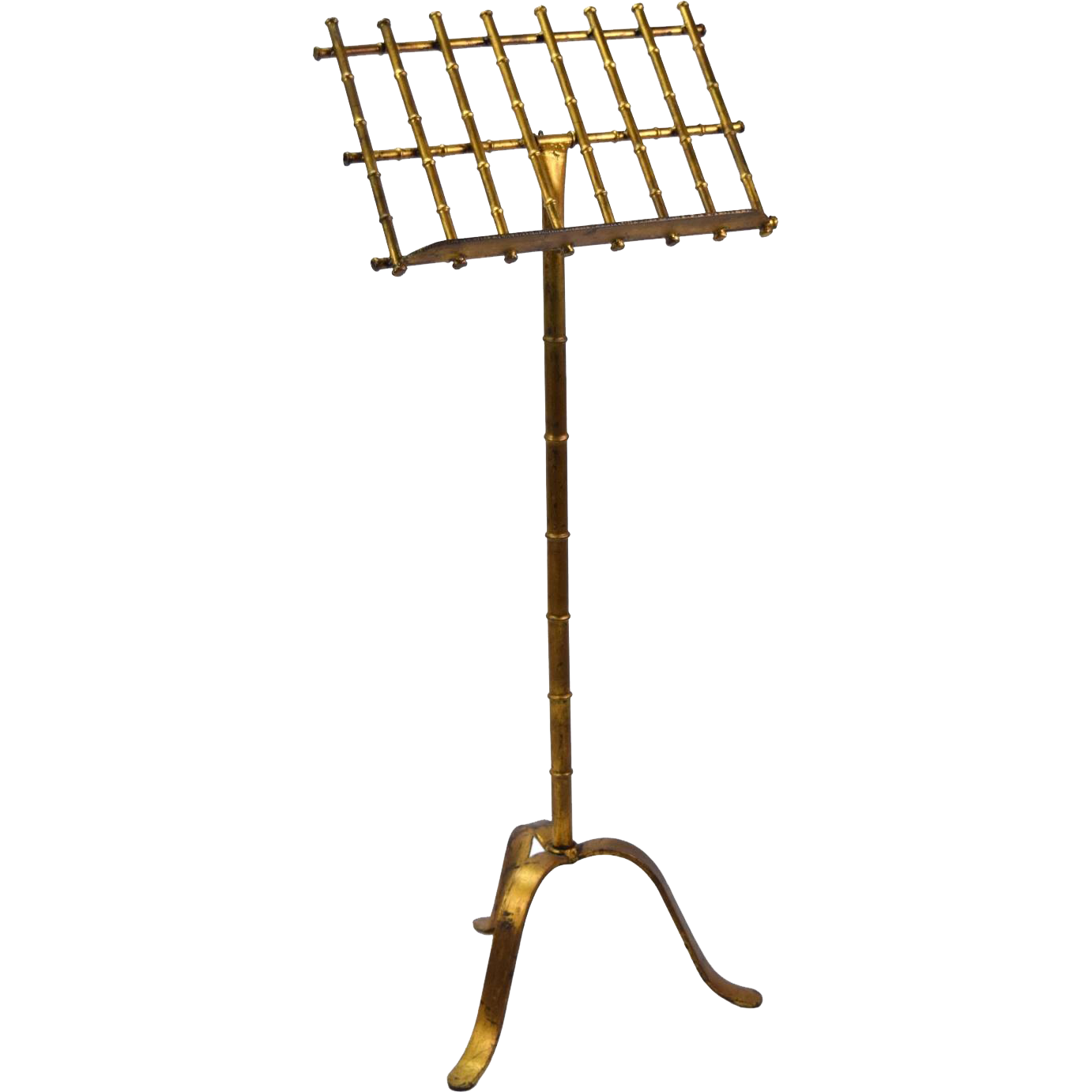 vintage faux bamboo gilt metal sheet music stand from colinreedantiques on ruby lane. Black Bedroom Furniture Sets. Home Design Ideas