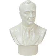 1941 Wedgwood Glazed Porcelain Bust of Franklin D. Roosevelt