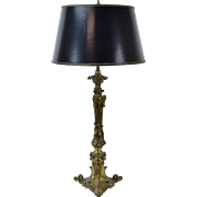 Vintage Bronze Louis XV Style 4-Light Table Lamp