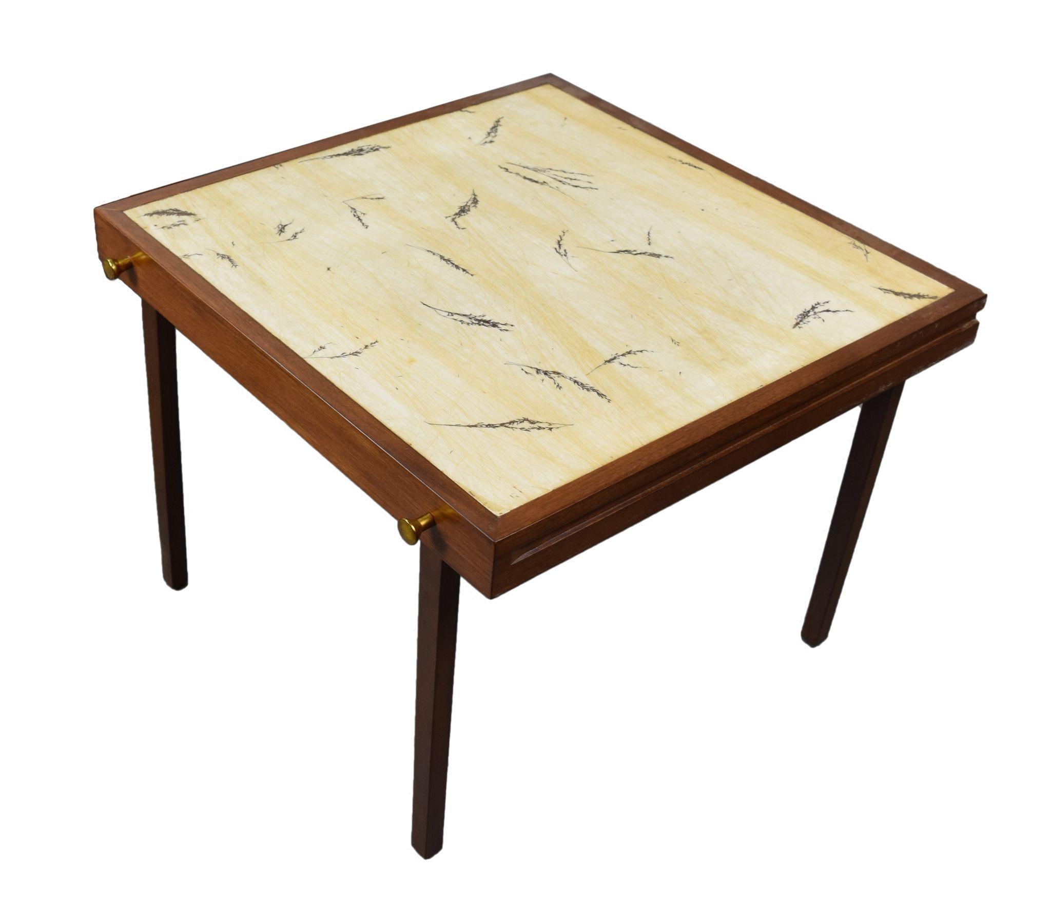 John Widdi b Mid Century Modern End Table w Folding Snack Tables
