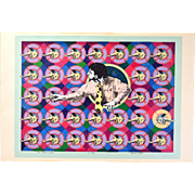 "Mod 1968 Serigraph ""The Vicious Circle"" Signed Thomas L. Ritter"