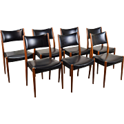Set of 7 Vintage Mid-Century Danish Modern Teak Dining Chairs