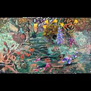 """Lagoon"" 1990 Biomorphic Abstraction Painting by Jim Waid Arizona"