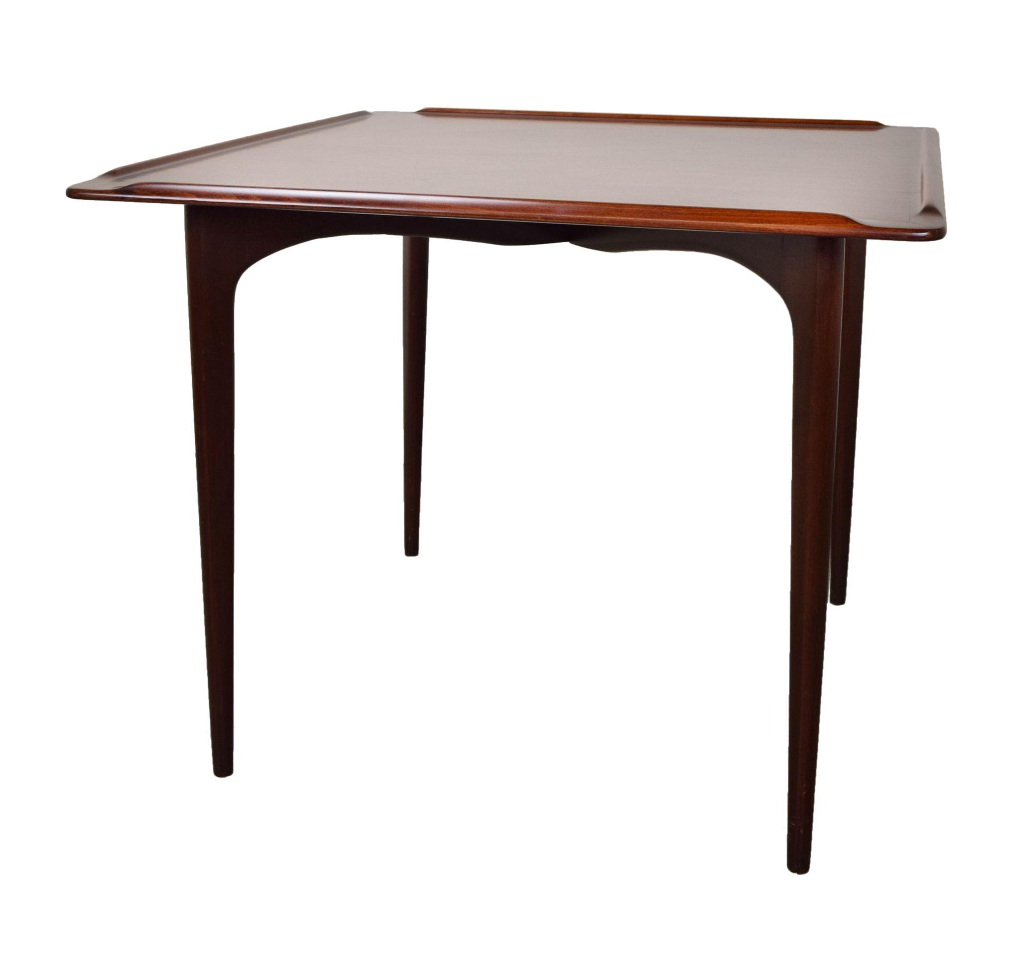 Vintage Mid Century Modern Mahogany Card Table from