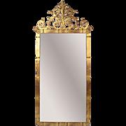 Vintage Palladio Italian Rococo Gilt Metal Pier Wall Mirror