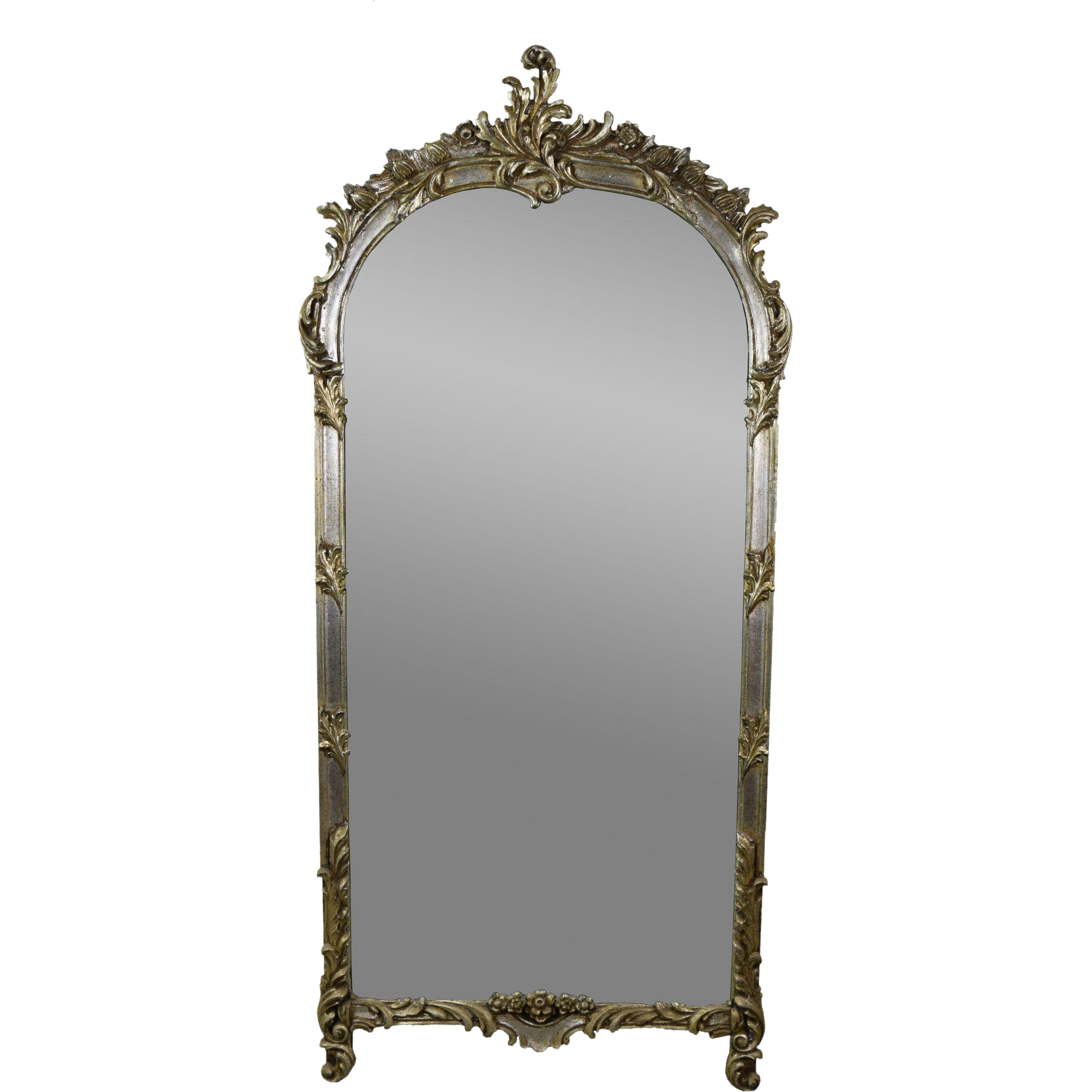 Vintage Labarge French Style Wall Pier Mirror W Silver