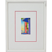 "Nicholas Sistler ""View Through Red Door"" Signed L/E Lithograph Chicago Artist"