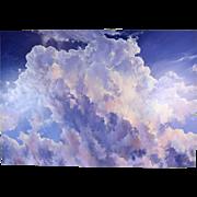 Large Dramatic Cloudscape Painting Doug Oliver Prescott Arizona Artist