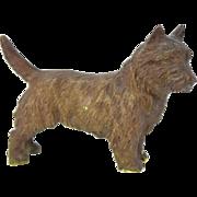 Antique Circa 1900 Austrian Bronze Highland Terrier Dog Figure