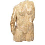 "Vintage Modern Marble Sculpture ""Angular Nude"" Ron ""Arkay"" Klowden"