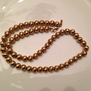 Vintage Monet  Beaded Necklace Circa 1950