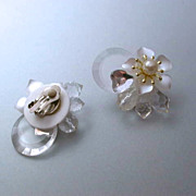 Vintage Lucite Clip On Earrings
