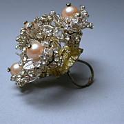 Jules Van Rouge Rhinestone Encrusted  Ring Prototype