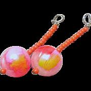 Jules Van Rouge Beaded Dangle Earrings
