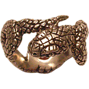 Sterling Silver Men's Snake Ring