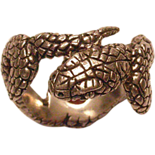 Sterling Silver Men's Snake Ring - Red Tag Sale Item