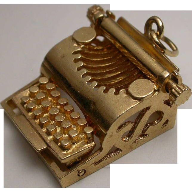 Chinesischer Gott Sau 14K Gold Vintage Charm Armband