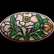 Vintage Cloisonne Flower Brooch
