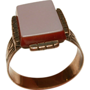 Antique Victorian Sardonyx Gold Ring