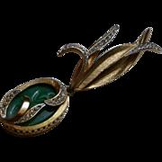 Pristine, Vintage Signed 'Kramer' Lotus Brooch