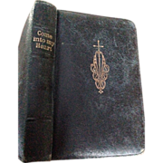 "Leather Bound Pocket Size ""Come into My Heart Prayers and instructions for children"" illustrated"