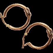 14K Gold Hoop Earrings hallmarked