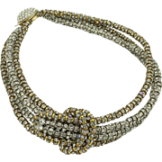 Fabulous Rhinestone Encrusted Choker Necklace and Earring Set