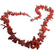Gorgeous Natural Asian Coral  Necklace