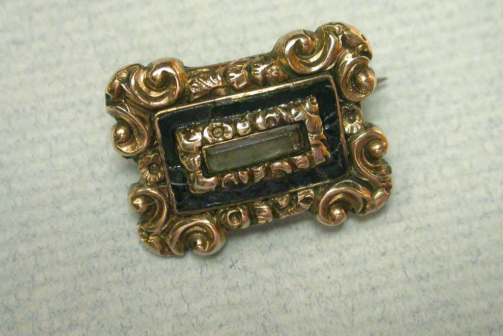 Antique Victorian Gold Filled Repousse Brooch
