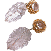 Vintage DeLillo  Clip On Earrings hallmarked