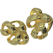 Givenchy goldtone clip on earrings