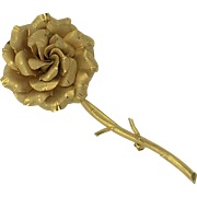Vintage Gold Filled Flower Brooch hallmarked