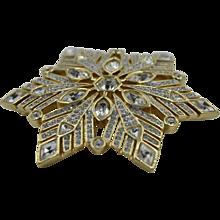 Mint condition Swarovski Crystal Brooch hallmarked