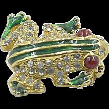 Adorable Vintage Frog Brooch