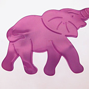 Vintage French Purple Resin Elephant Brooch