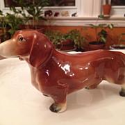 Vintage porcelain Dachshund figurine