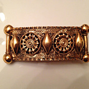 Vintage Made in France goldtone barrette by Rachael Block
